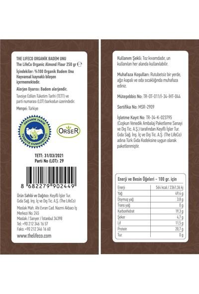 The Lifeco Organik Badem Unu 250 gr