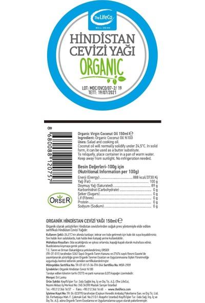 The Lifeco Organik Hindistan Cevizi Yağı 150 ml