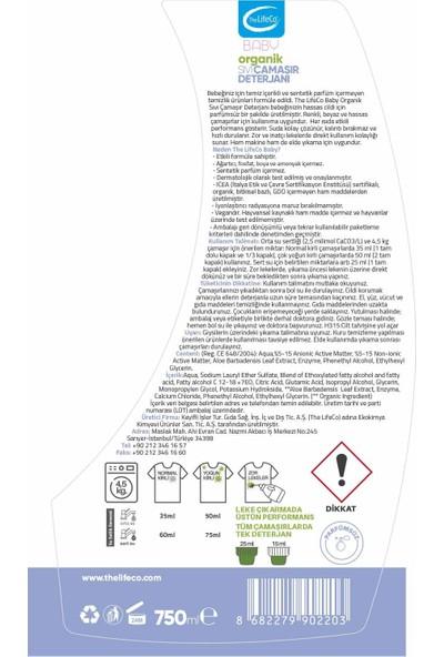 The Lifeco Baby Organik Sıvı Çamaşır Deterjanı 750 ml