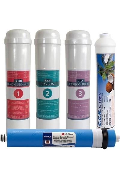LG Su Arıtma Cihazı Filtresi 12 Inç Inline Lg Mebran 5 Li Filtre Seti