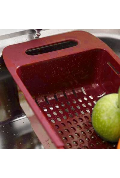 Aydo Ayarlanabilir 3'lü Plastik Meyve Sebze Süzgeci