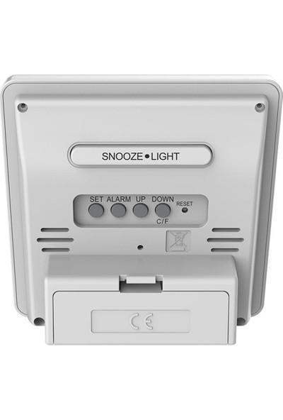 Emate Işıklı Büyük Ekran Termometre ve Masa Saati THR330