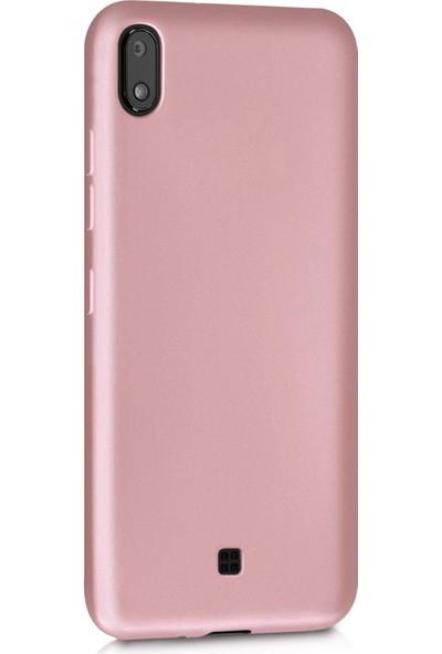 Microsonic Matte Silicone LG K20 2019 Kılıf Rose Gold