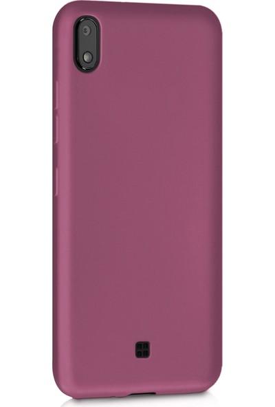 Microsonic Matte Silicone LG K20 2019 Kılıf Mor