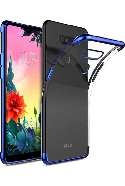 Microsonic LG K50s Kılıf Skyfall Transparent Clear Mavi