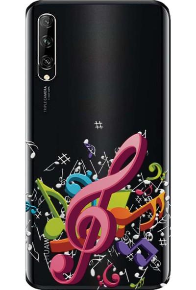 Kılıf Merkezi Huawei P Smart Pro Kılıf STK-L21 Baskılı Silikon Sol Anahtarı STK:348