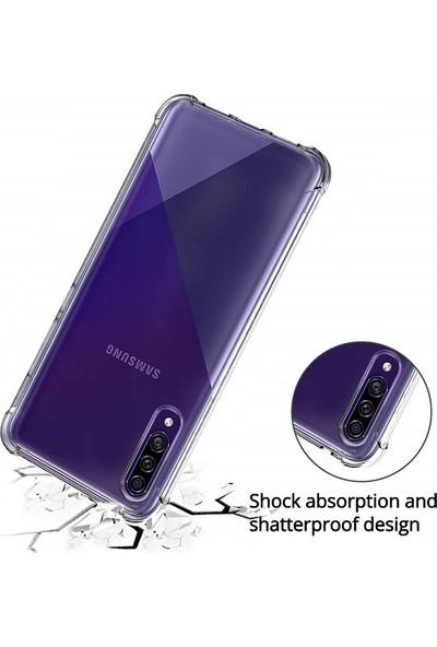 Kılıfreyonum Samsung Galaxy A30S Ultra İnce Şeffaf Airbag Anti Şok Silikon Kılıf Anti Shock Kılıf