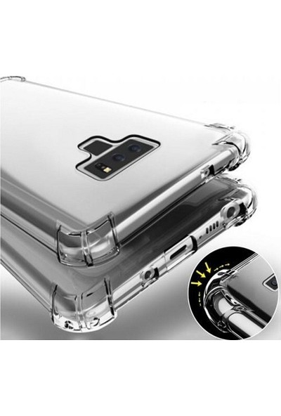 Kılıfreyonum Samsung Galaxy Note 9 Ultra İnce Şeffaf Airbag Anti Şok Silikon Kılıf Anti Shock Kılıf