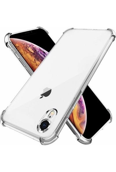 Kılıfreyonum Apple iPhone XR Ultra İnce Şeffaf Airbag Anti Şok Silikon Kılıf Anti Shock Kılıf