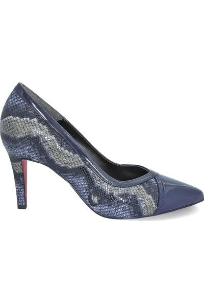 Kuum 6005 Yılan Deri Desenli Kadın Stiletto Ayakkabı