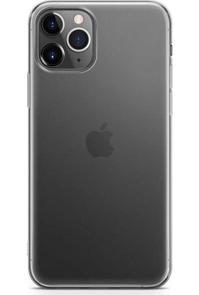 Melefoni Apple iPhone 11 Pro Max Kılıf 04.mm Şeffaf Koruyucu Silikon
