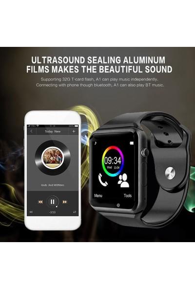 """A1 Bluetooth 1.54"""" LCD Ekran Sim Kartlı Akıllı Saat"""