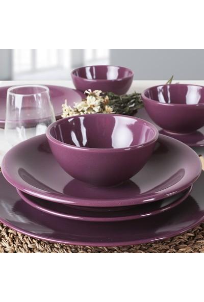 Keramika Mor Ege Yemek Takımı 24 Parça 6 Kişilik