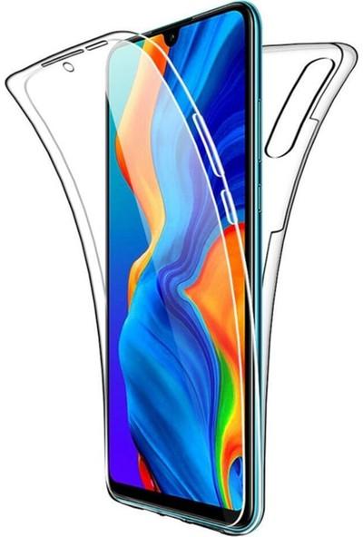 Coverzone Xiaomi Redmi 8A Kılıf 360 Şeffaf Tam Koruma Silikon Kılıf