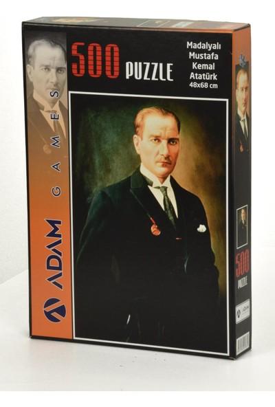 Adam Games Madalyalı Mustafa Kemal Atatürk Puzzle Yapıştırıcı 500 Parça