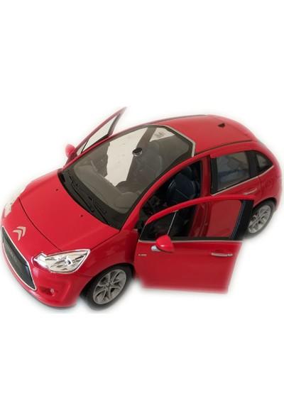 Welly 10 Cıtroen C3 1/24 Ölçek Kırmızı Model Oyuncak Araba