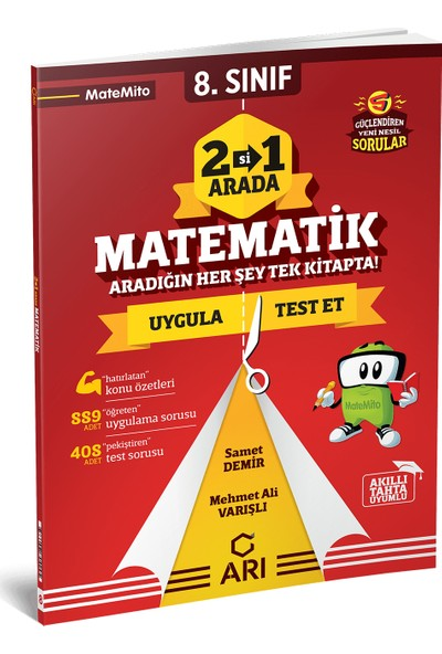 Arı Yayıncılık 8.sınıf Matemito 2'si 1 Arada Matematik