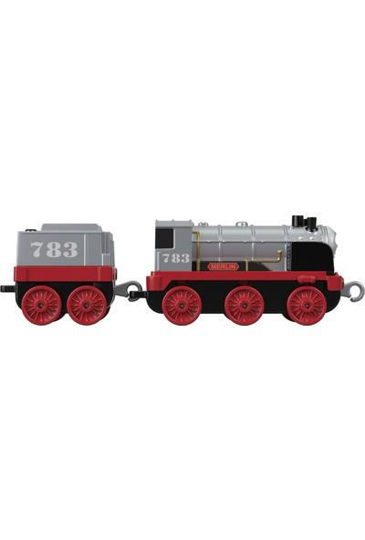 Thomas & Friends™ Trackmaster Sür-Bırak Büyük Tekli Trenler, Merlin, Kırmızı-Gri Vagonlu Oyuncak Lokomotif Tren, FXX26