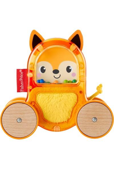 Fisher Price Sevimli Araçlar - Tilki, Renkli ve Sesli Boncuklar İçerir, Şeffaf Tasarım, Turuncu Oyuncak Araba - GLD01