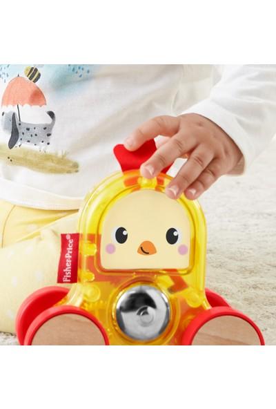 Fisher Price Sevimli Araçlar - Horoz, Sesli Zil, Şeffaf Tasarım, Sarı Oyuncak Araba - GMB25