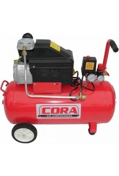 Cora Hava Kompresör Yağlı Tek Çıkışlı 50 Lt