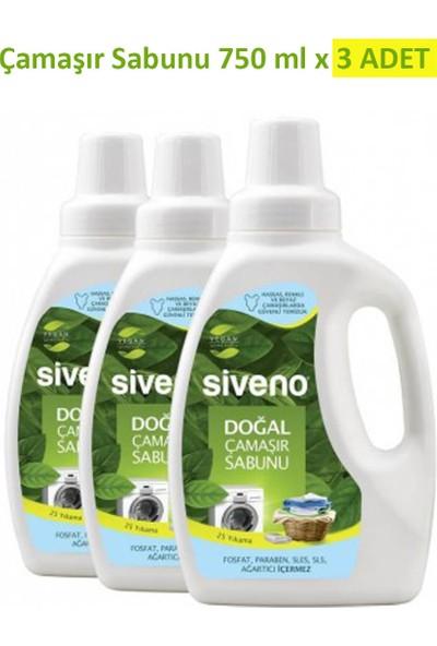Siveno Doğal 3'lü Çamaşır Sabunu Seti 750 ml
