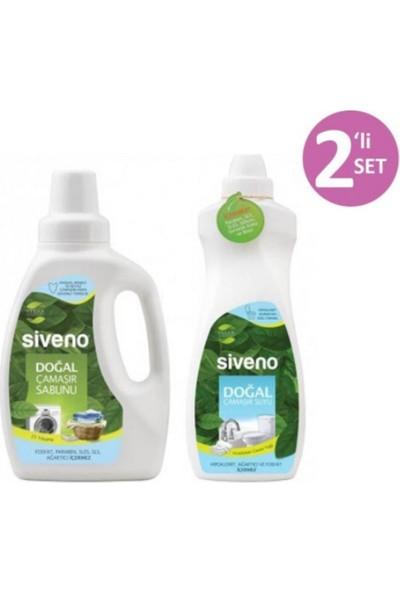 Siveno Doğal 2'li Set Çamaşır Sabunu 750 ml + Çamaşır Suyu 700 ml