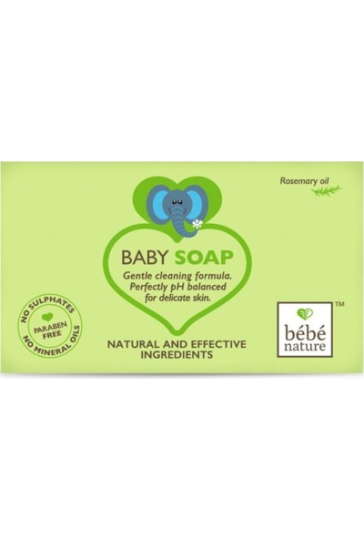 Bebe Nature Baby Soap With Rosemary Oil 100 ml