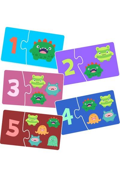 Neobebek Sevimli Canavarlarla Sayıları Öğreniyorum 2li Puzzle Seti