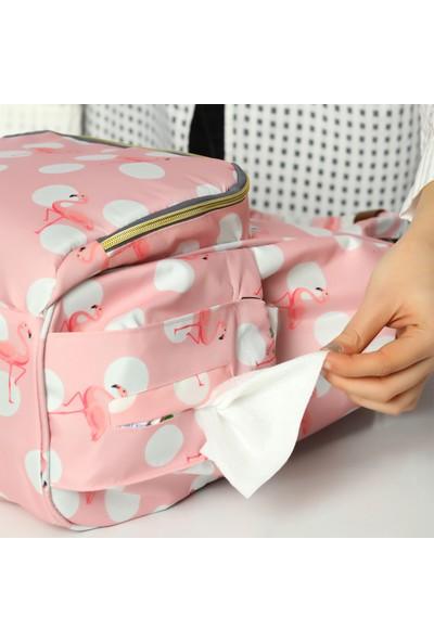 Lal Baby Flamingo Pembe Anne Bebek Bakım Sırt Çantası