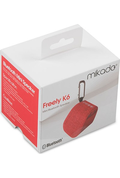 Mikado Freely K6 Bt 4.2 5W Tf Destekli Bluetooth Speaker Kırmızı