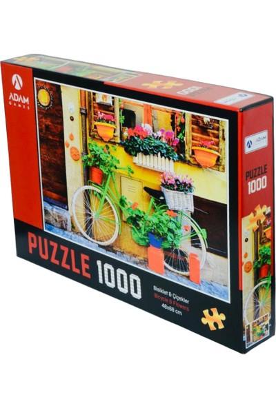 Adam Games Bisikletler ve Çiçek 1000 Parça Puzzle + Yapıştırıcı 48 x 68 cm