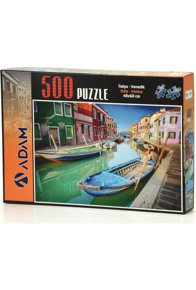 Adam Games Italya Venedik 500 Parça Puzzle + Yapıştırıcı 68 x 48 cm
