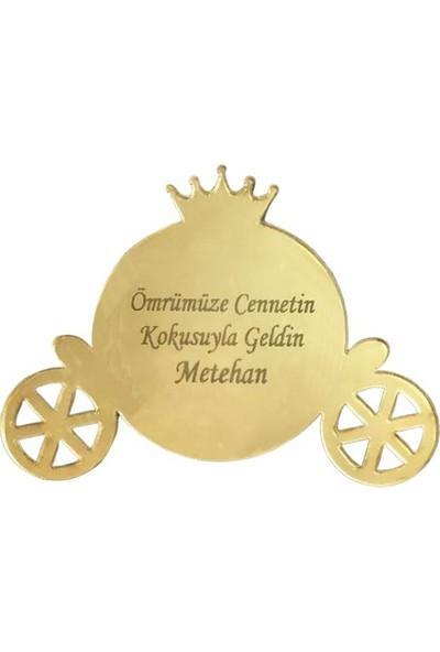 Dünya Hediye Kendin Süsle Gold Pleksi Balkabağı Araba Magnet 10 Adet