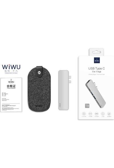 Wiwu T8 Type-C 7in1 Hub Çoklayıcı Adaptör