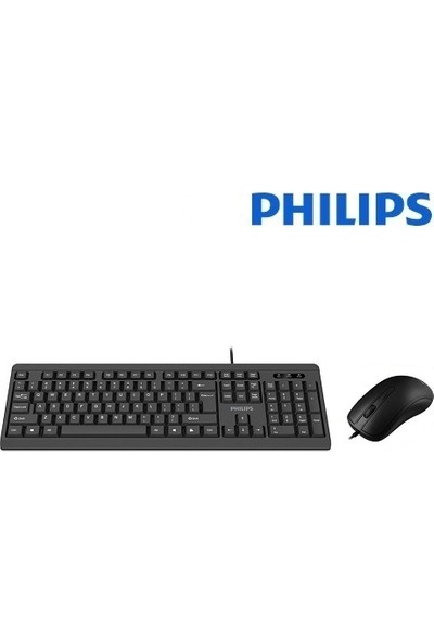 Philips SPT6224 Siyah USB Q Standart Kablolu Klavye Mouse Set
