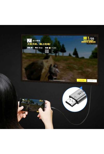 Wiwu X9 Type-C To HDMI Kablo Görüntü Aktarım Kablosu 2metre