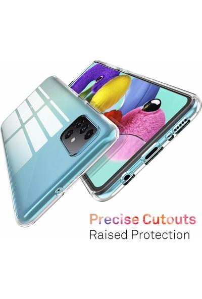 Quse Samsung Galaxy A51 Premium Şeffaf Silikon Kılıf