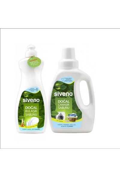 Siveno Doğal 2'li Set Çamaşır Sabunu 750 ml ve Bulaşık Sabunu 500 ml