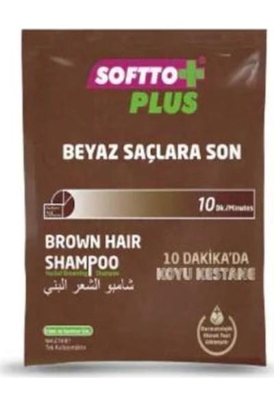 Softto Plus Brown Hair Shampoo 21 Ml