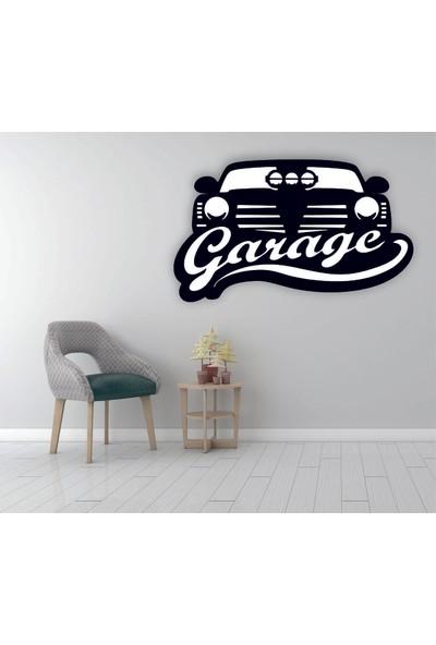 Adzen Araba Temalı Mdf Dekoratif Tablo Siyah-Beyaz