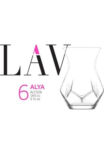 Lav Alya Çay Bardağı 6'lı Yeni Model Modern Bardak