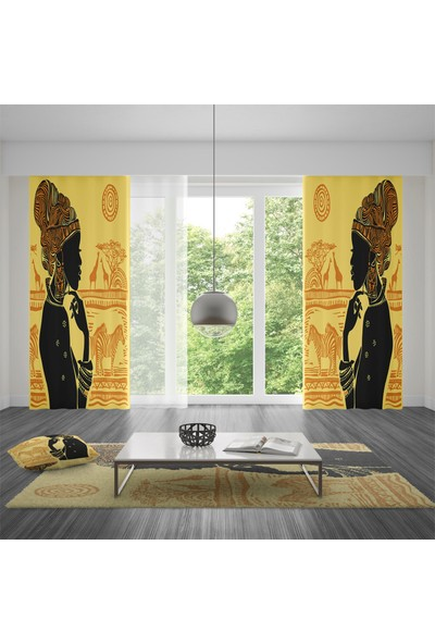 Homefesto Tek Kanat Dekoratif Fon Perde