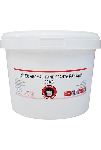 Pasta Cumhuriyeti Çilek Aromalı Pandispanya Toz için Karışım 25 kg