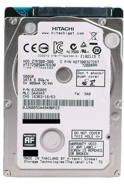 "Hitachi Travelstar 2.5"" Sata 3 6GBit/s 7200RPM 500GB 32MB Cache Hard Disk"