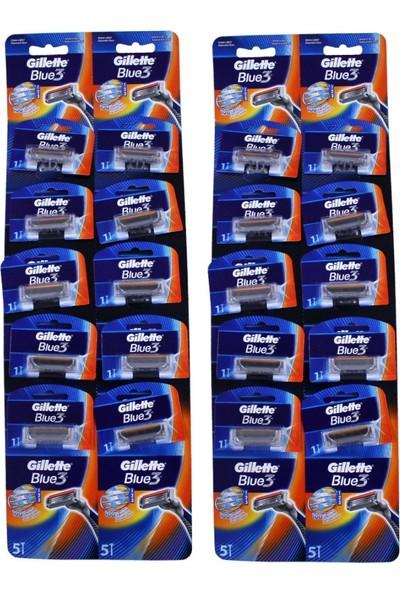 Gillette Blue 3 Tıraş Bıçağı 10'Lu Kartela X 2 Adet