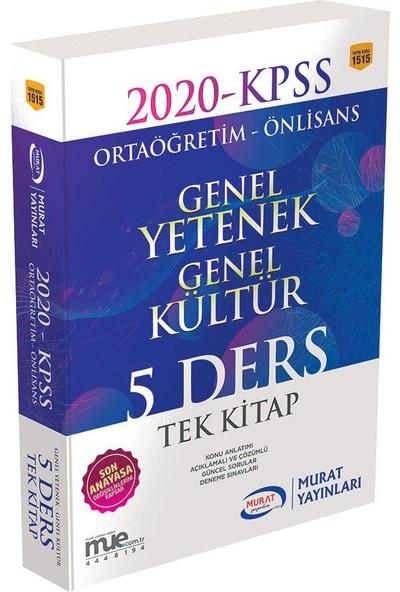 Murat Yayınları 1515 - Gygk Ortaöğretim - Önlisans 5 Ders Tek Kitap Konu Anlatım ve Soru Bankası