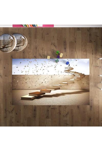 Branqusi Çocuk Odası Oyun Halısı Kaymaz Taban 3 Boyutlu Merdivenler Çocuk Halısı