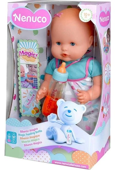 Nenuco Sihirli Biberonlu Bebek Mavi