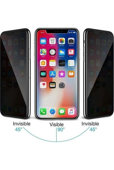 Kılıfreyonum Apple iPhone XS Max Privacy Ekran Koruyucu Gizli Cam 5D Cam
